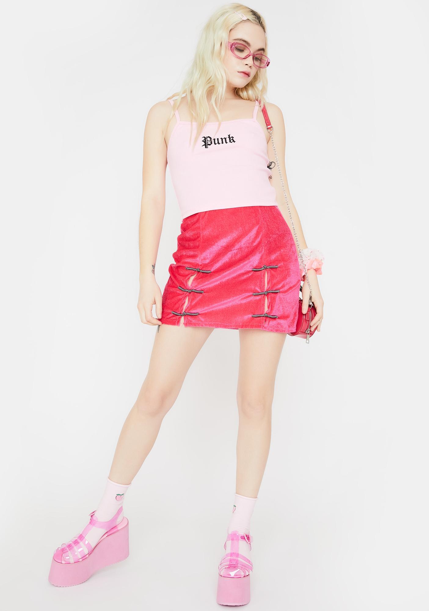 O Mighty Hot Pink Sincity Mini Skirt