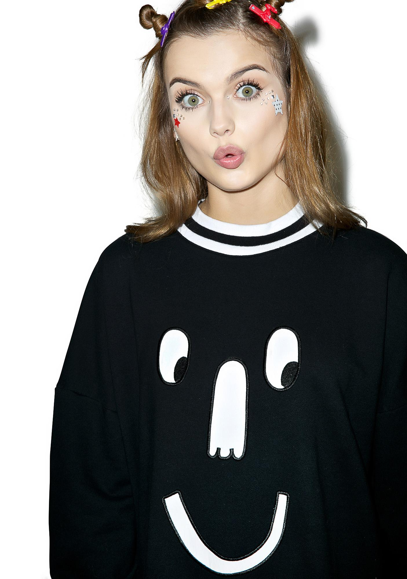 Lazy Oaf Mono Face Sweatshirt