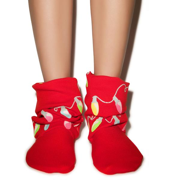 Wildfox Couture Glowing Lights Fox Sox
