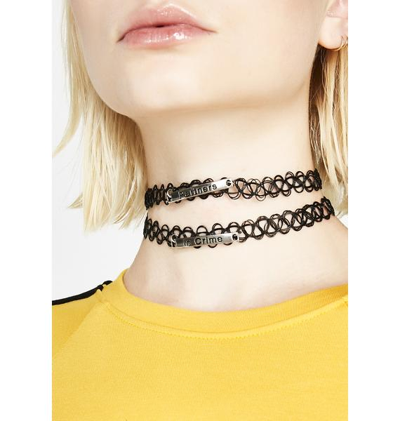Partners In Crime Tattoo Choker Set