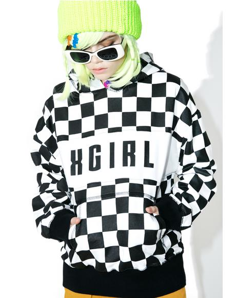 Checkered Sweat Hoodie