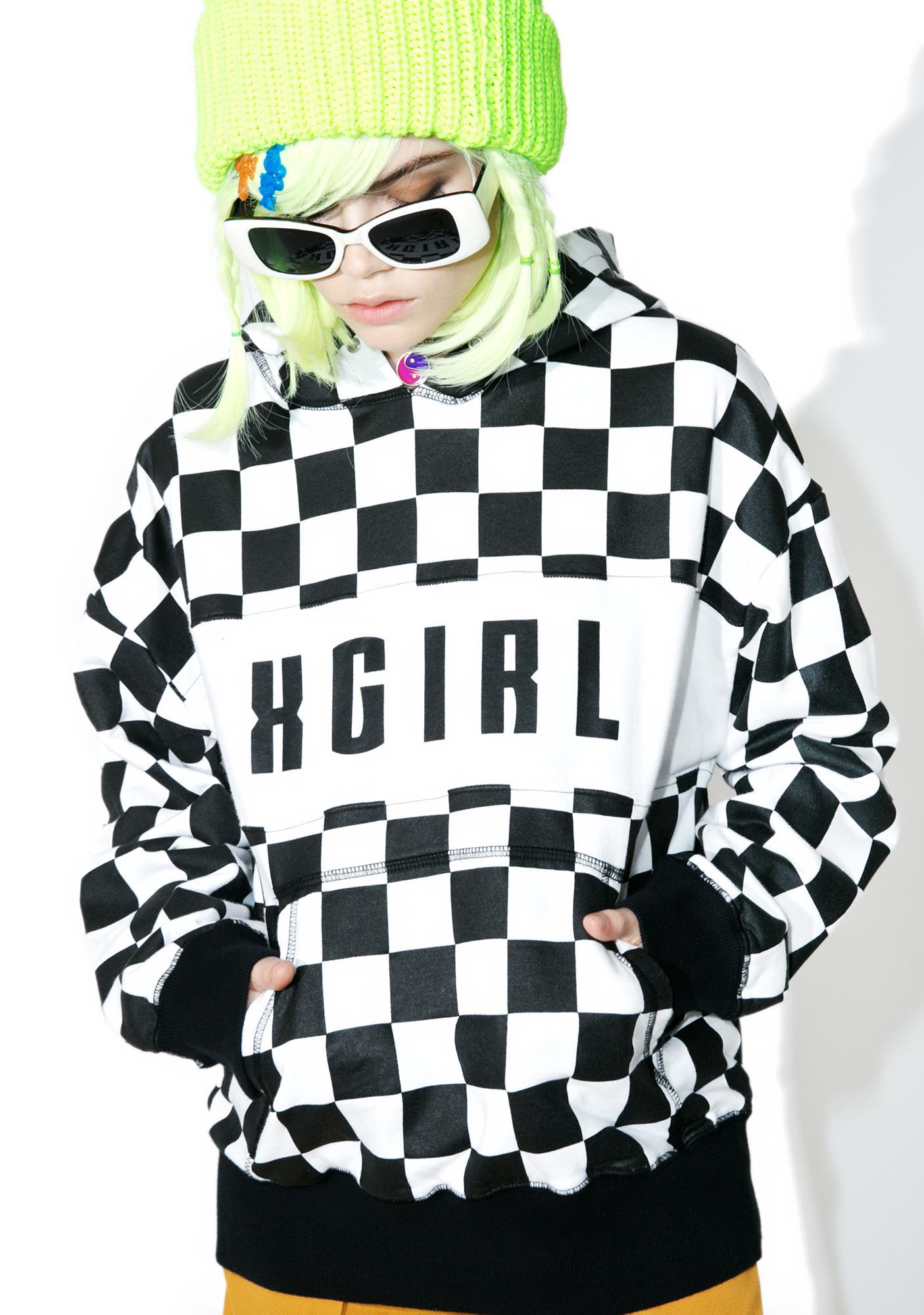 x-Girl Checkered Sweat Hoodie