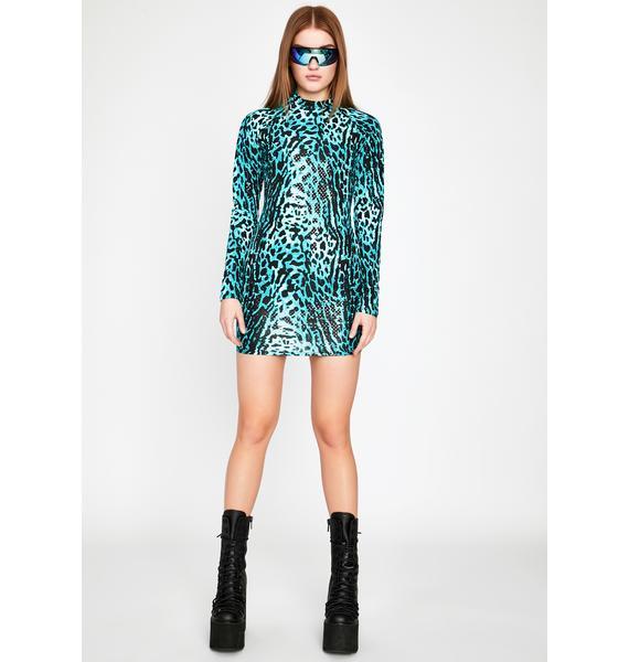 Deep Fierce Fantasy Mini Dress