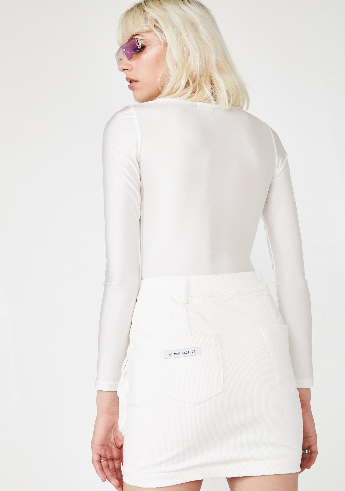 My Mum Made It Corduroy Snap Pocket Skirt