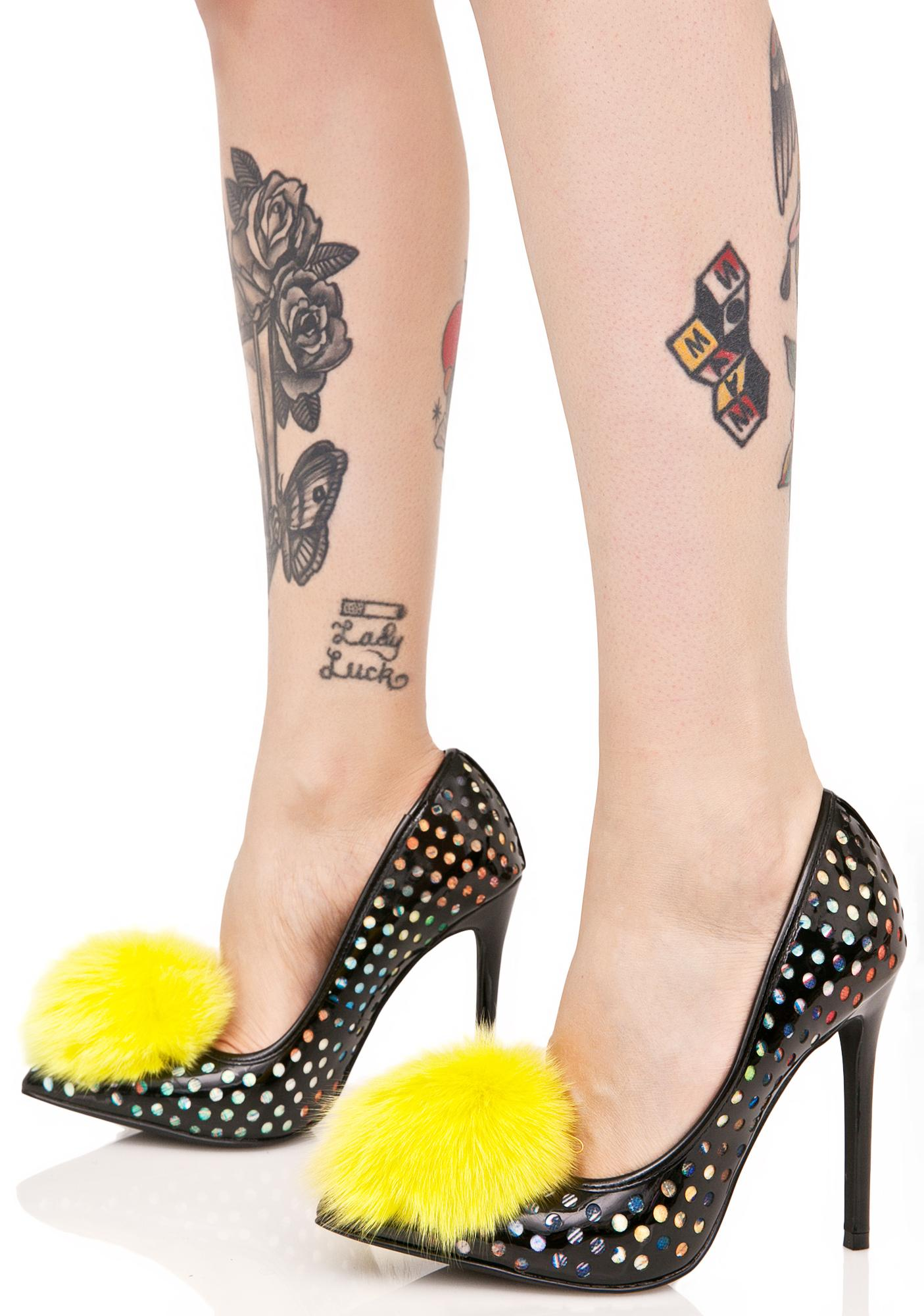 Privileged Shocking Dulce Pom Heels