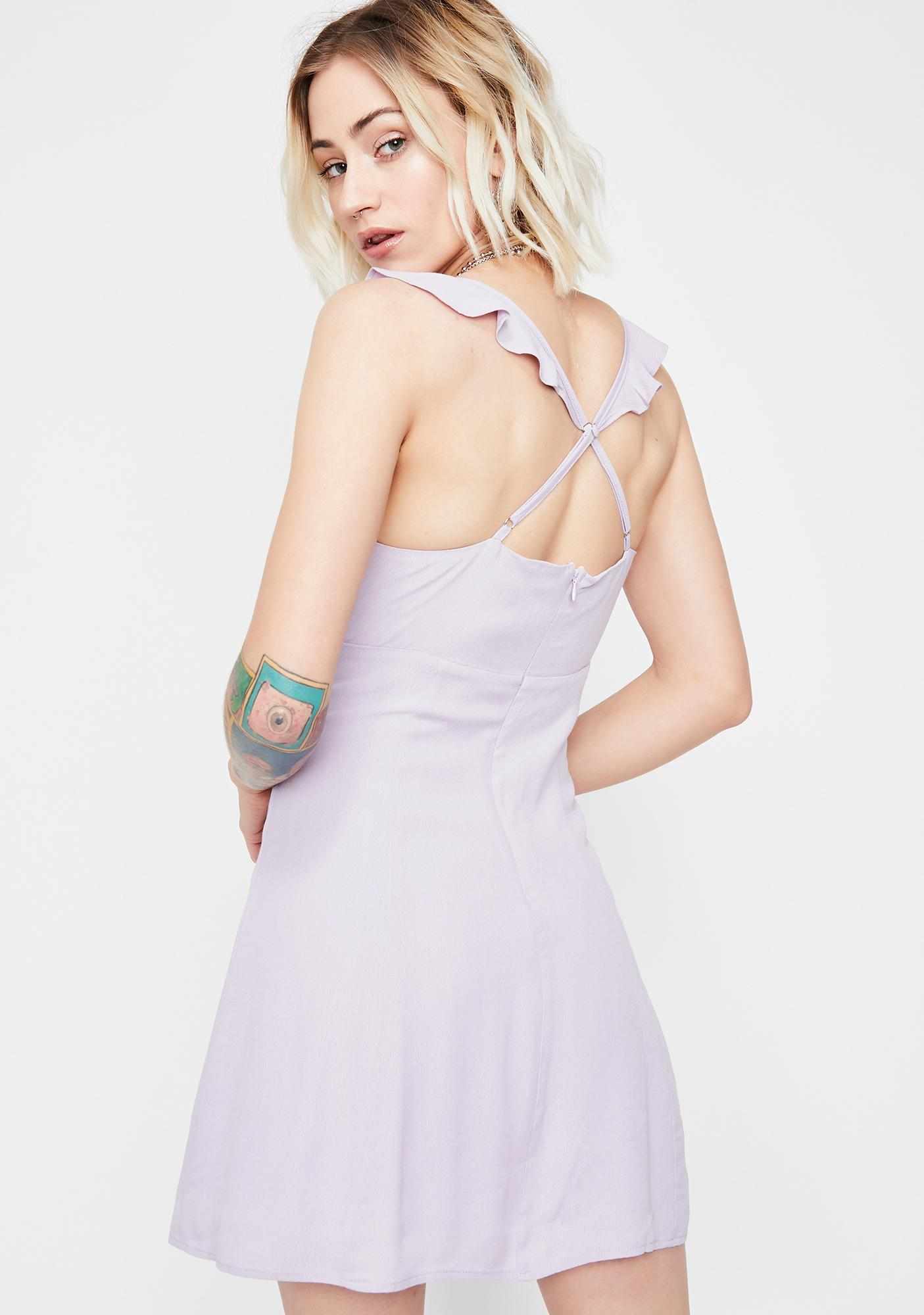 e7466011055e Purple Mini Ruffle Dress | Dolls Kill