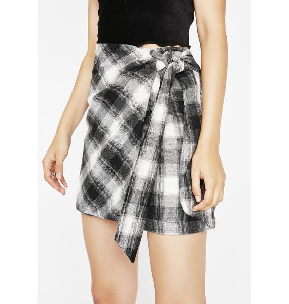 Be Careful Plaid Skirt