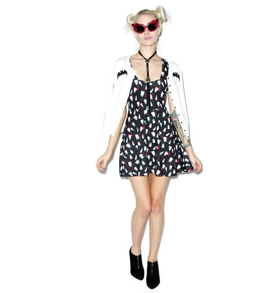 Sourpuss Clothing Knocked Out Skater Dress