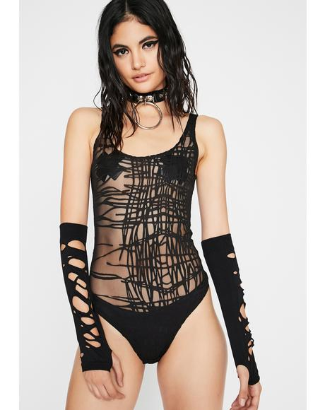 Into Dystopia Sheer Bodysuit