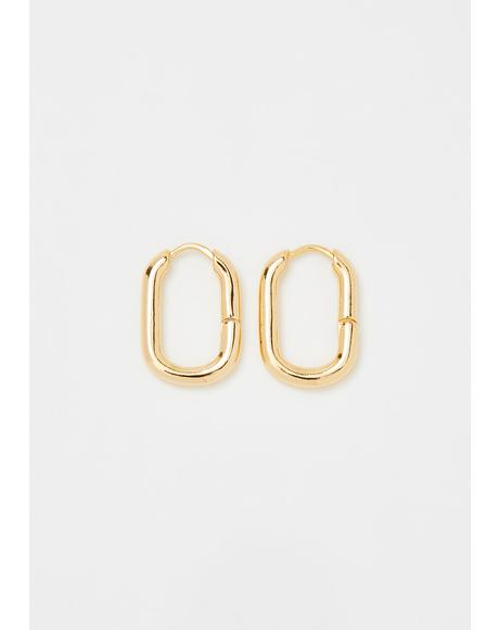 Thicc Bish Hoop Earrings