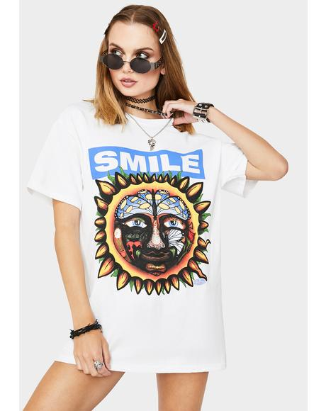 White Smile Graphic Tee