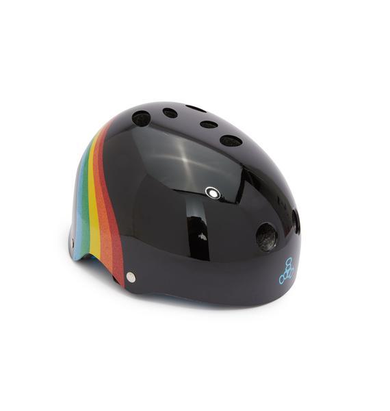 Triple Eight Black Rainbow Sparkle Certified Sweatsaver Helmet
