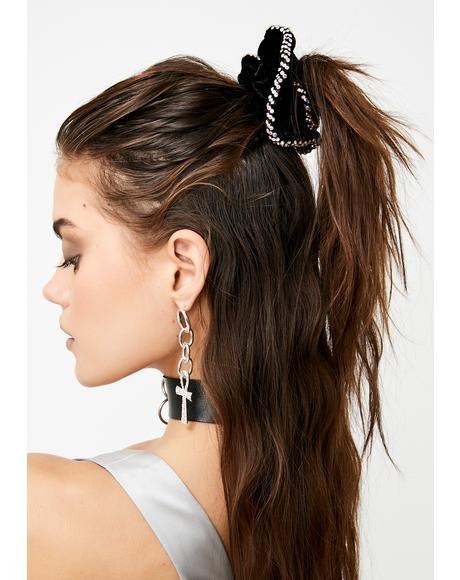 Secure The Bag Rhinestone Scrunchie