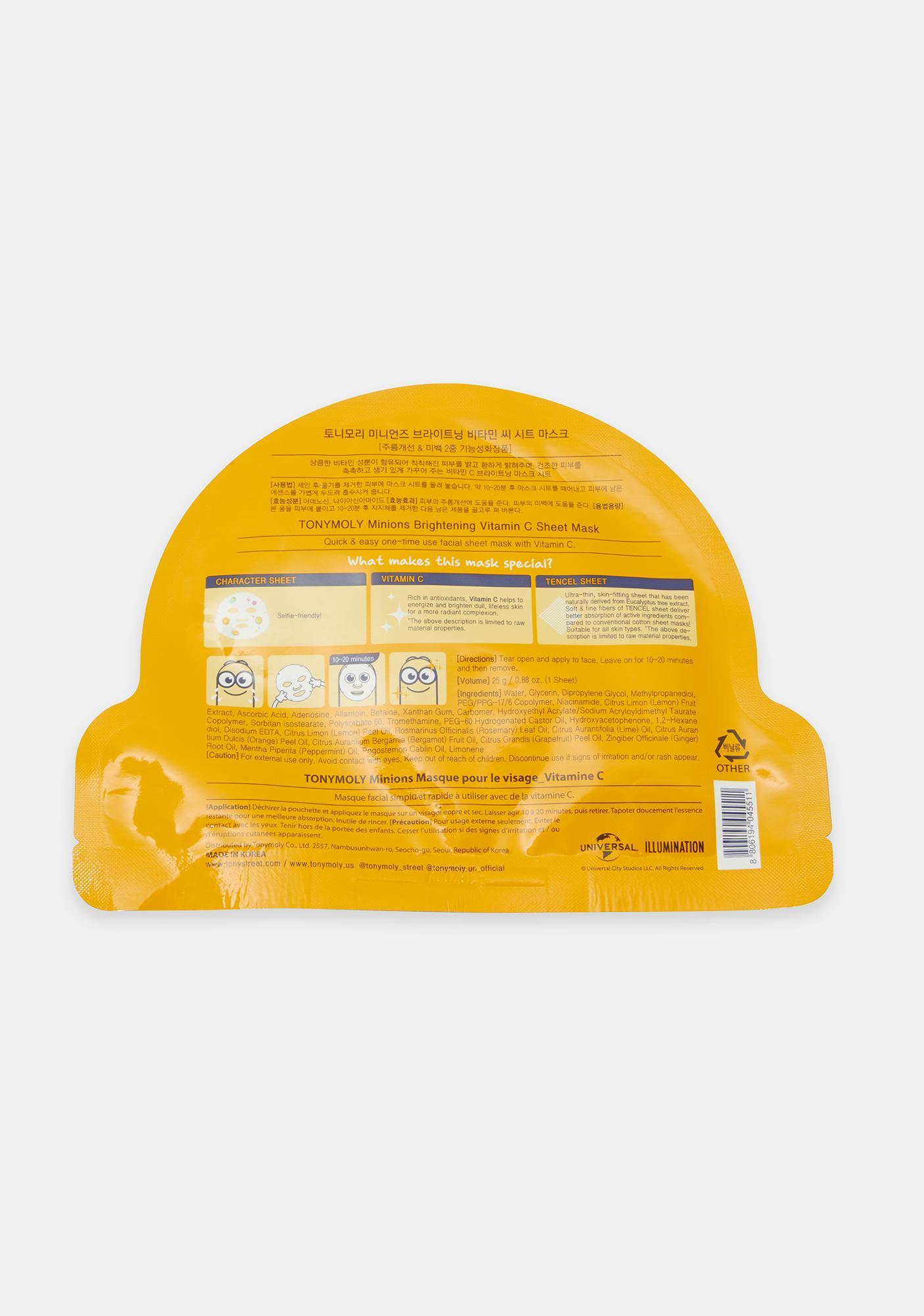 TONYMOLY Minions Brightening Vitamin C Sheet Mask