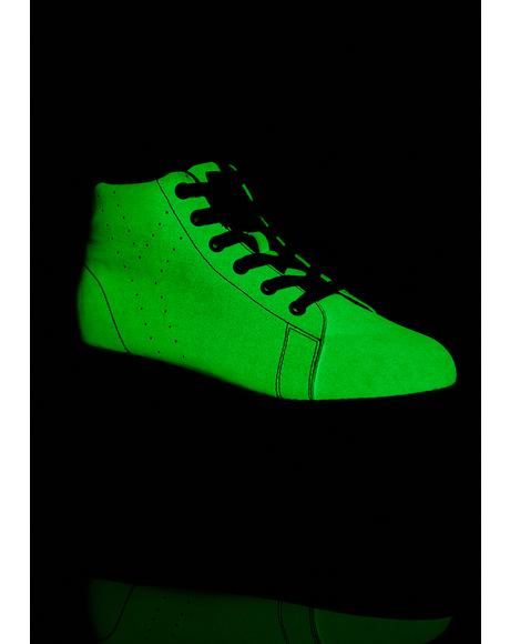 Lala Glow In The Dark Platform Sneakers