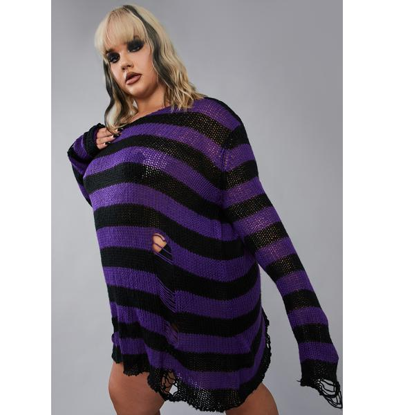 Widow Amethyst My Eternal Nightmare Distressed Sweater