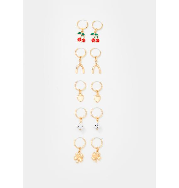 Just My Luck Earring Set