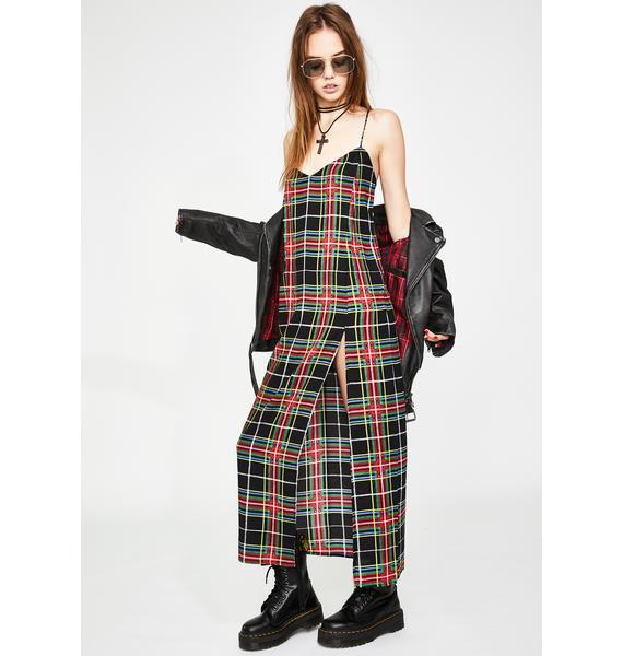 Motel Plaid Matis Maxi Dress