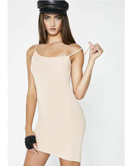 Nude Not An Angel Asymmetrical Dress