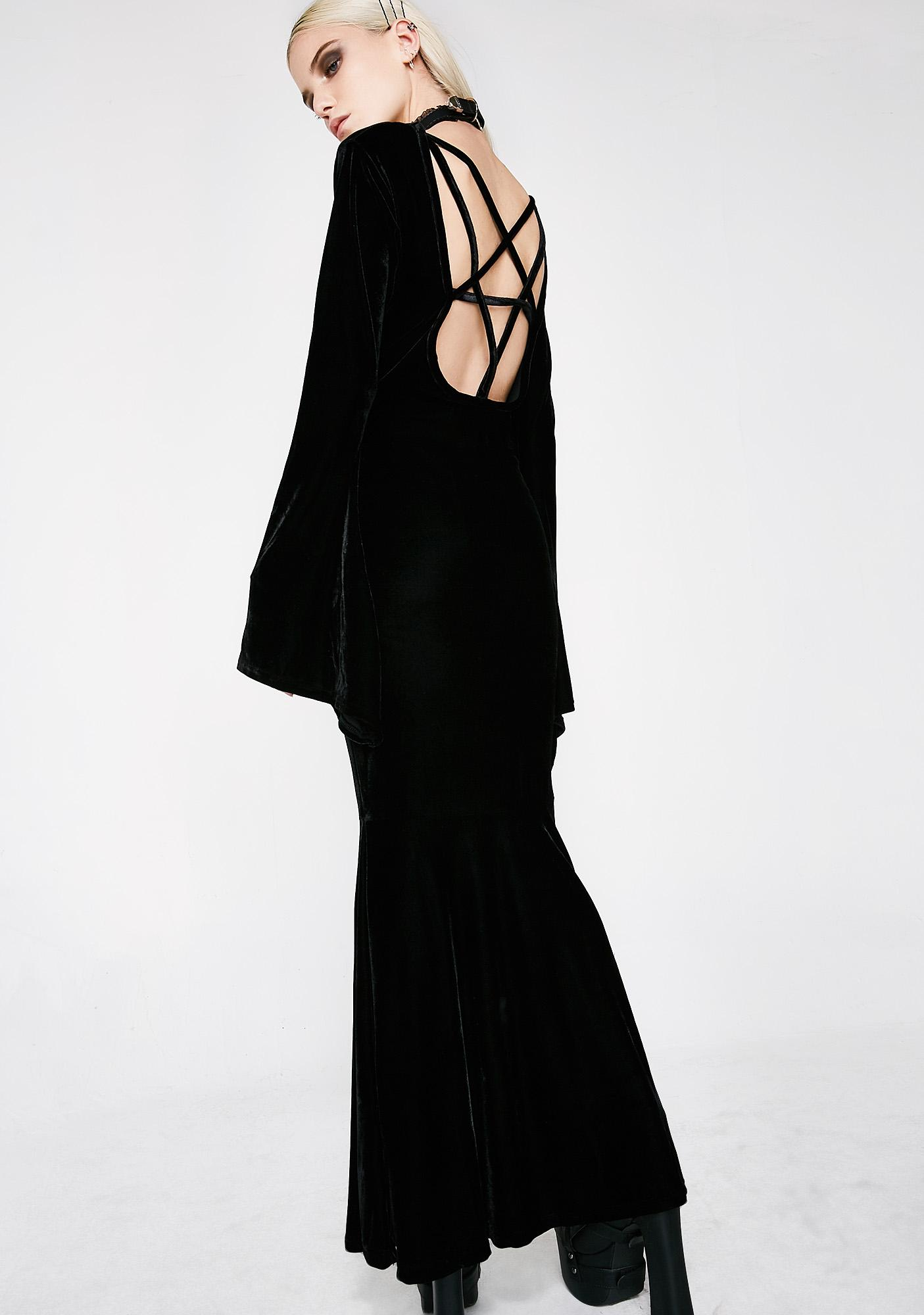Killstar Bathory Velvet Maxi Dress