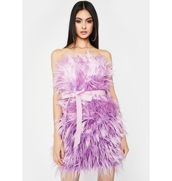 Lavender Freaky Elegant Fuzzy Dress