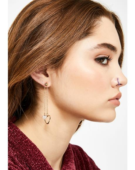 Double The Love Drop Earrings