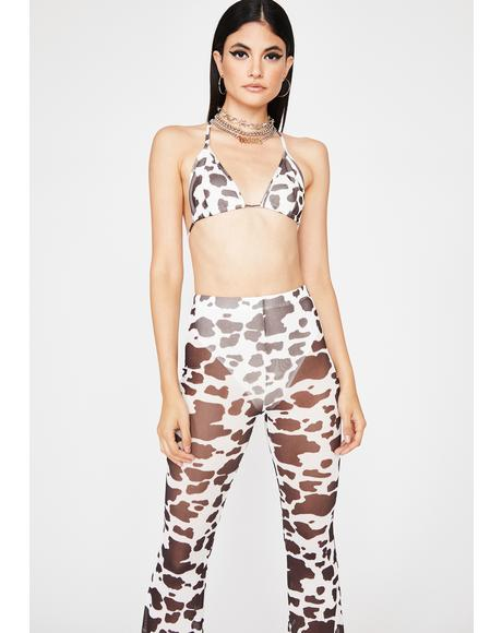 Bish Imma Cow Pant Set