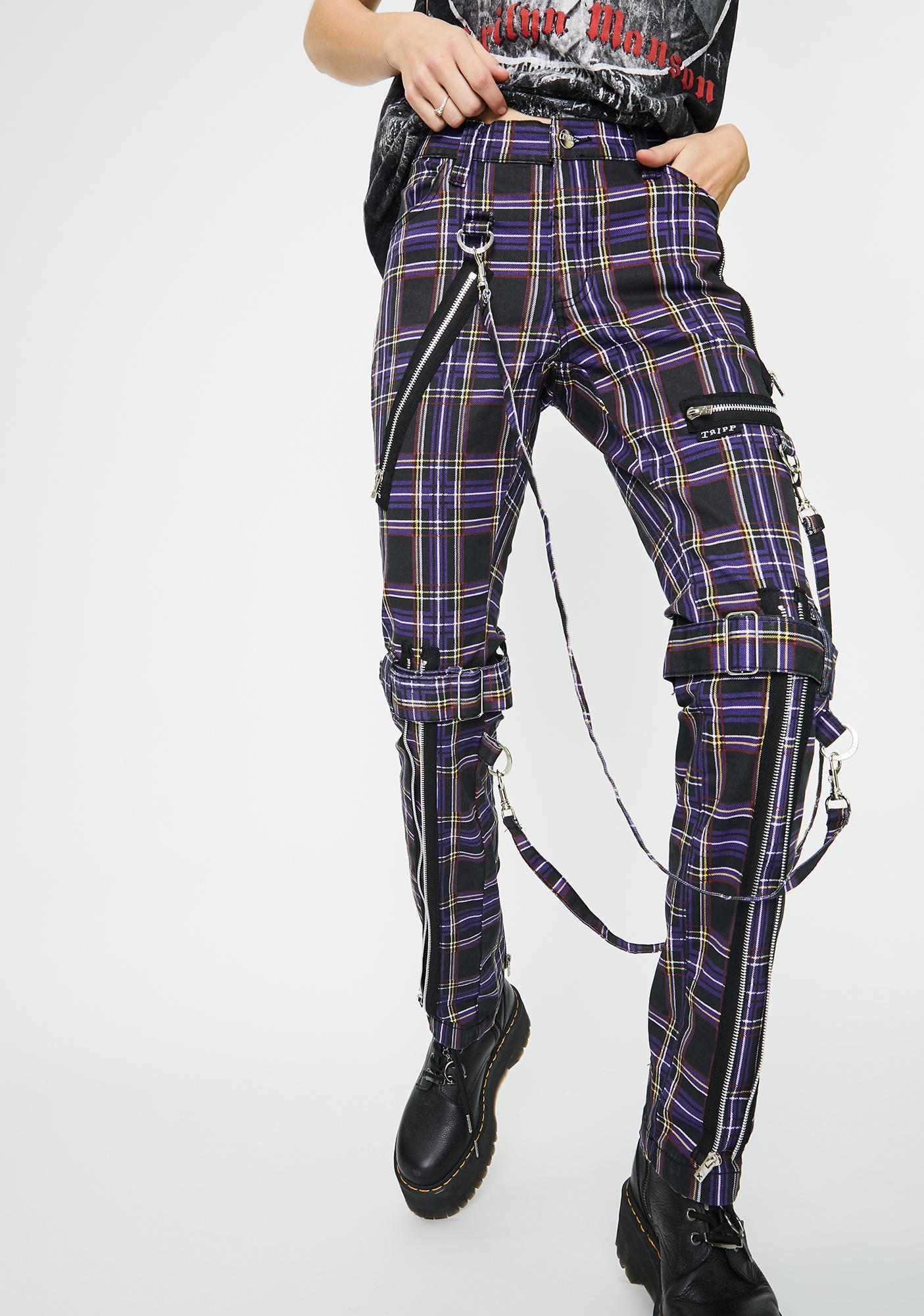 Dogpile plaid bondage pants
