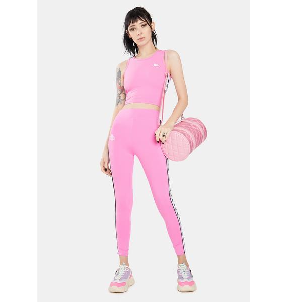 Kappa Pink 222 Banda Barrio Leggings