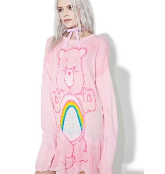 Iron Fist Cheer Bear Slouch Sweater