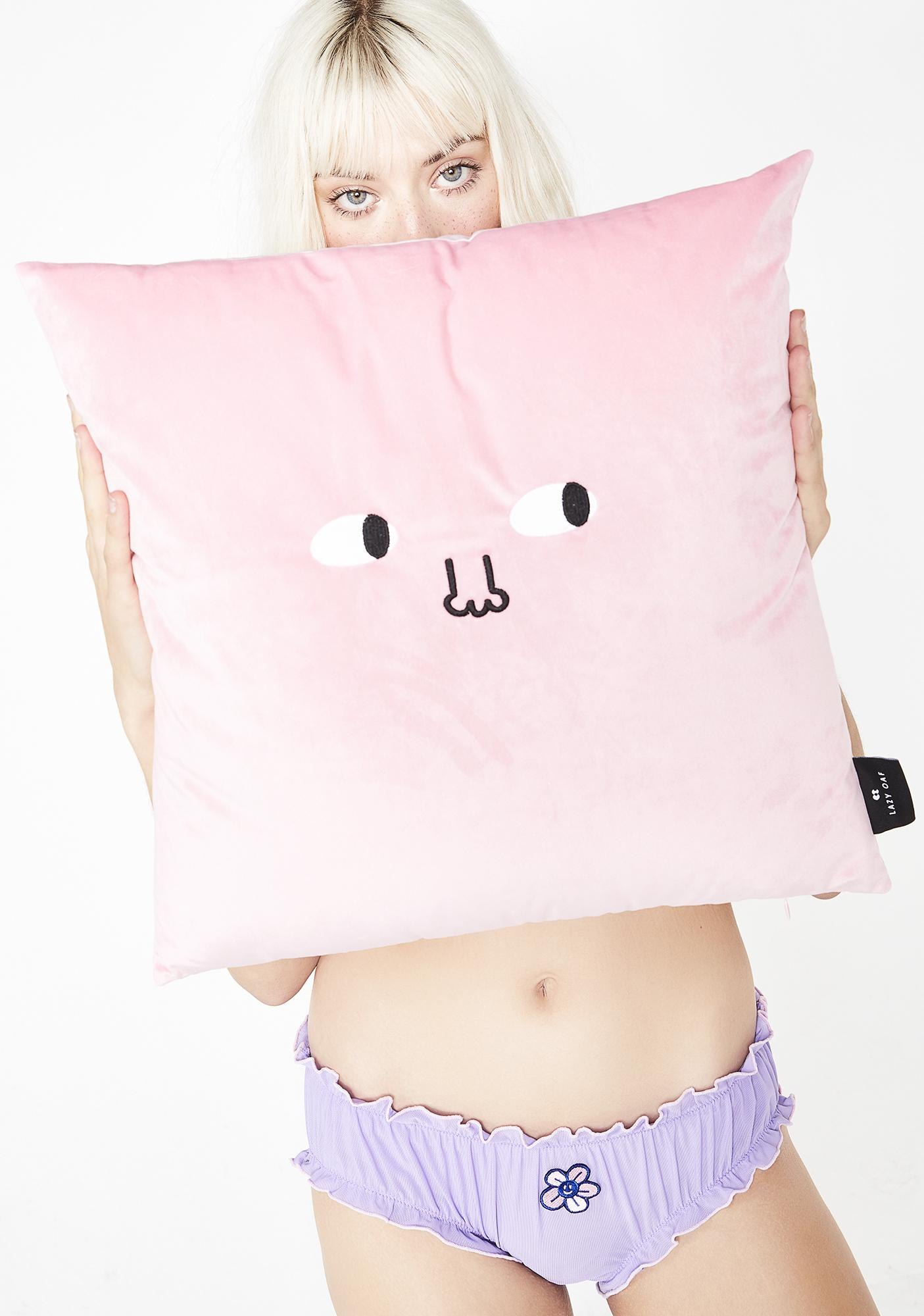 Lazy Oaf Leave Me Alone Pillow