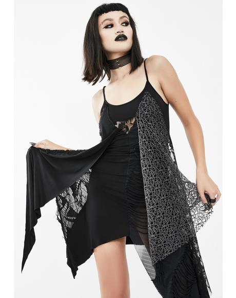 Asymmetrical Lace Mini Dress