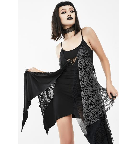 Devil Fashion Asymmetrical Lace Mini Dress