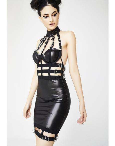 Crack The Whip Caged Dress