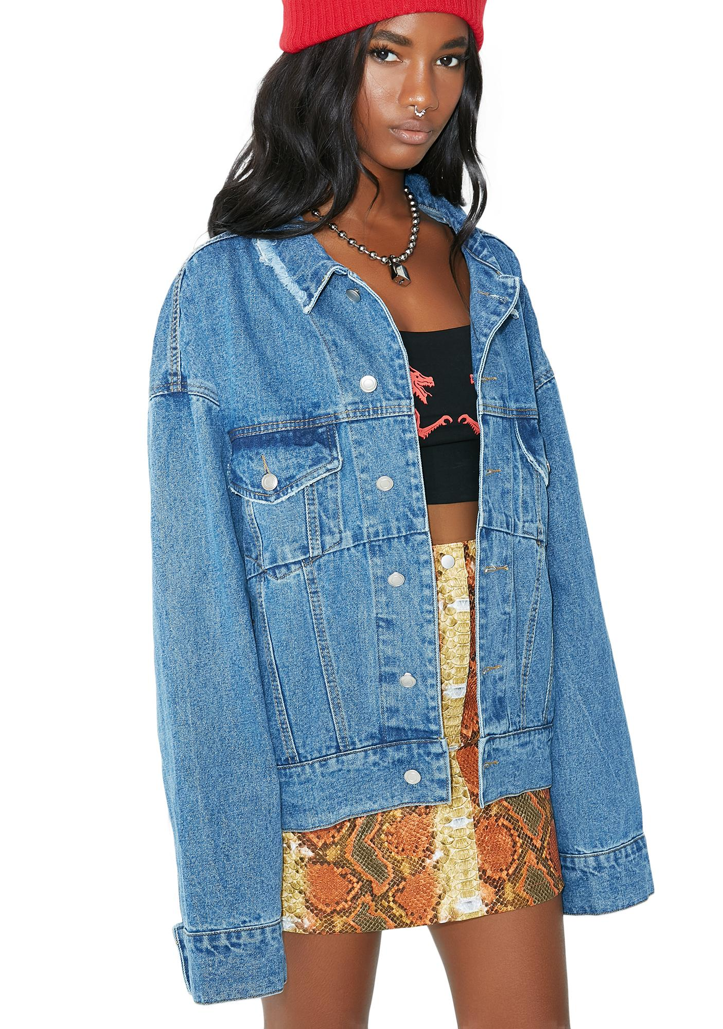 Callin' You Out Denim Jacket