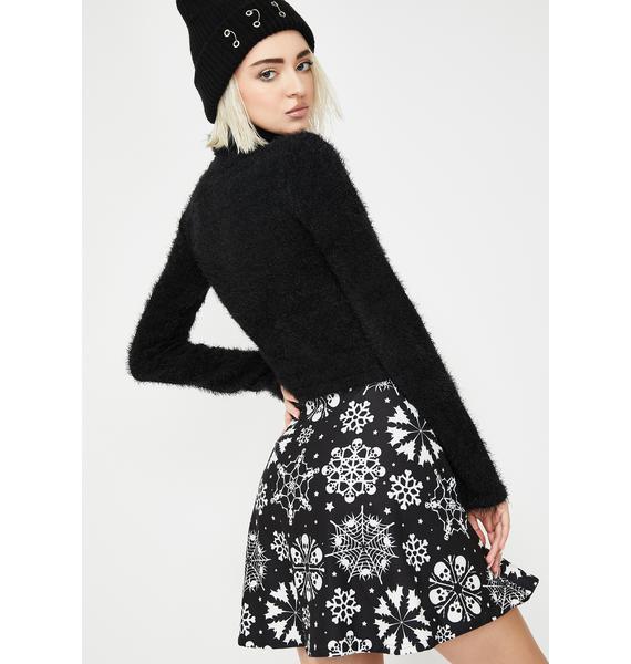Too Fast Snowflake Skater Skirt
