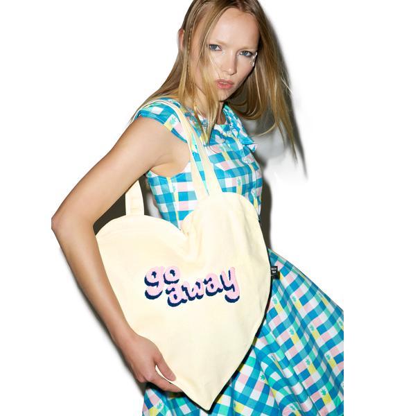 Lazy Oaf Go Away Heart Tote Bag