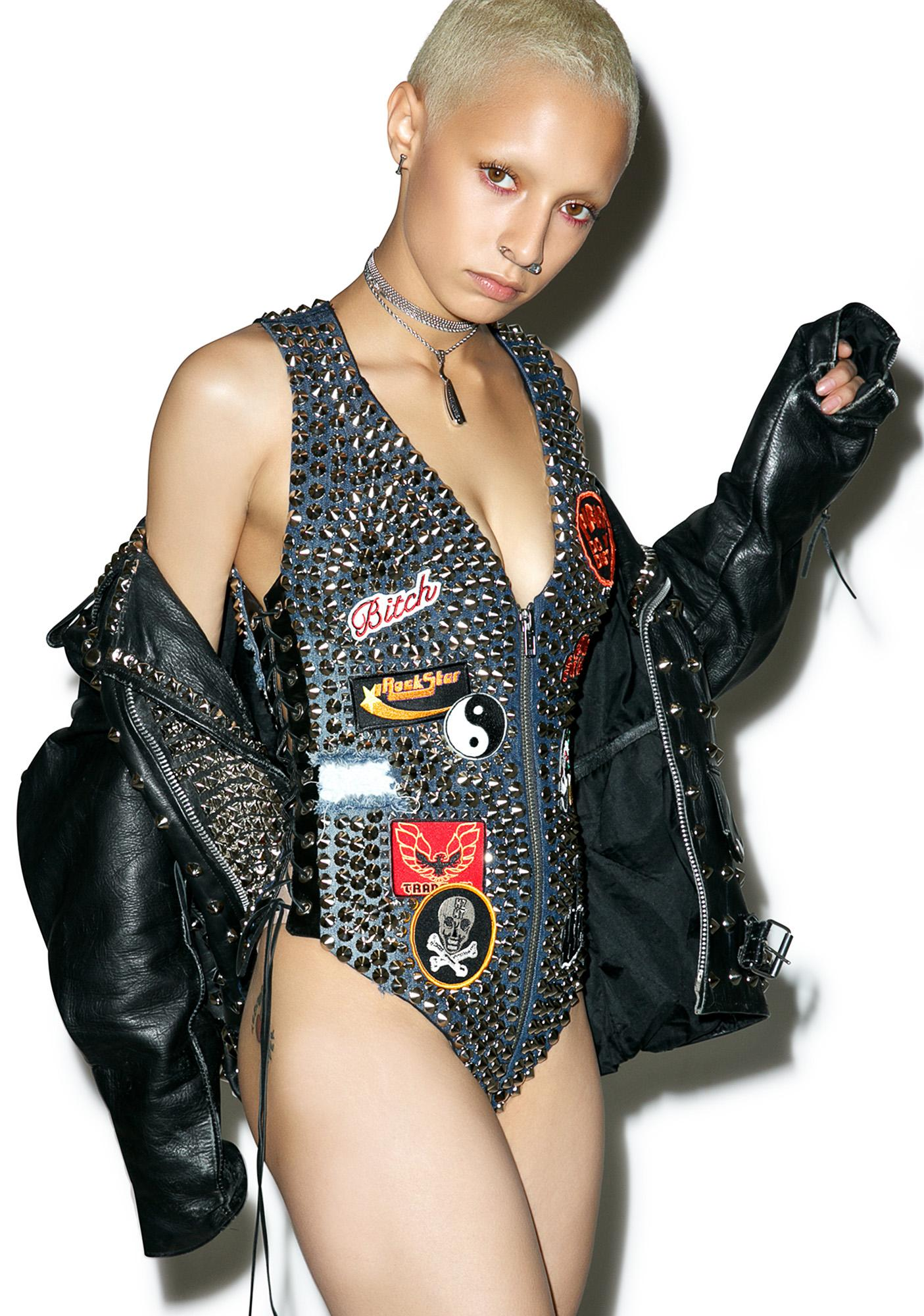 Hazmat Design Vintage Deadstock Rulers Of Rock Bodysuit