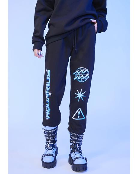 Aquarius Worldwide Graphic Jogger Sweatpants