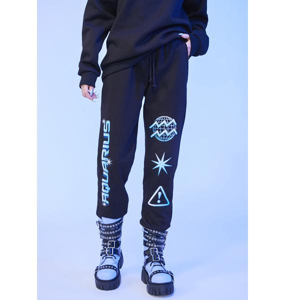 HOROSCOPEZ Aquarius Worldwide Graphic Jogger Sweatpants