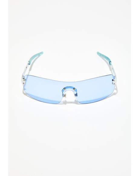 Sky Jaded Gaze Shield Sunglasses