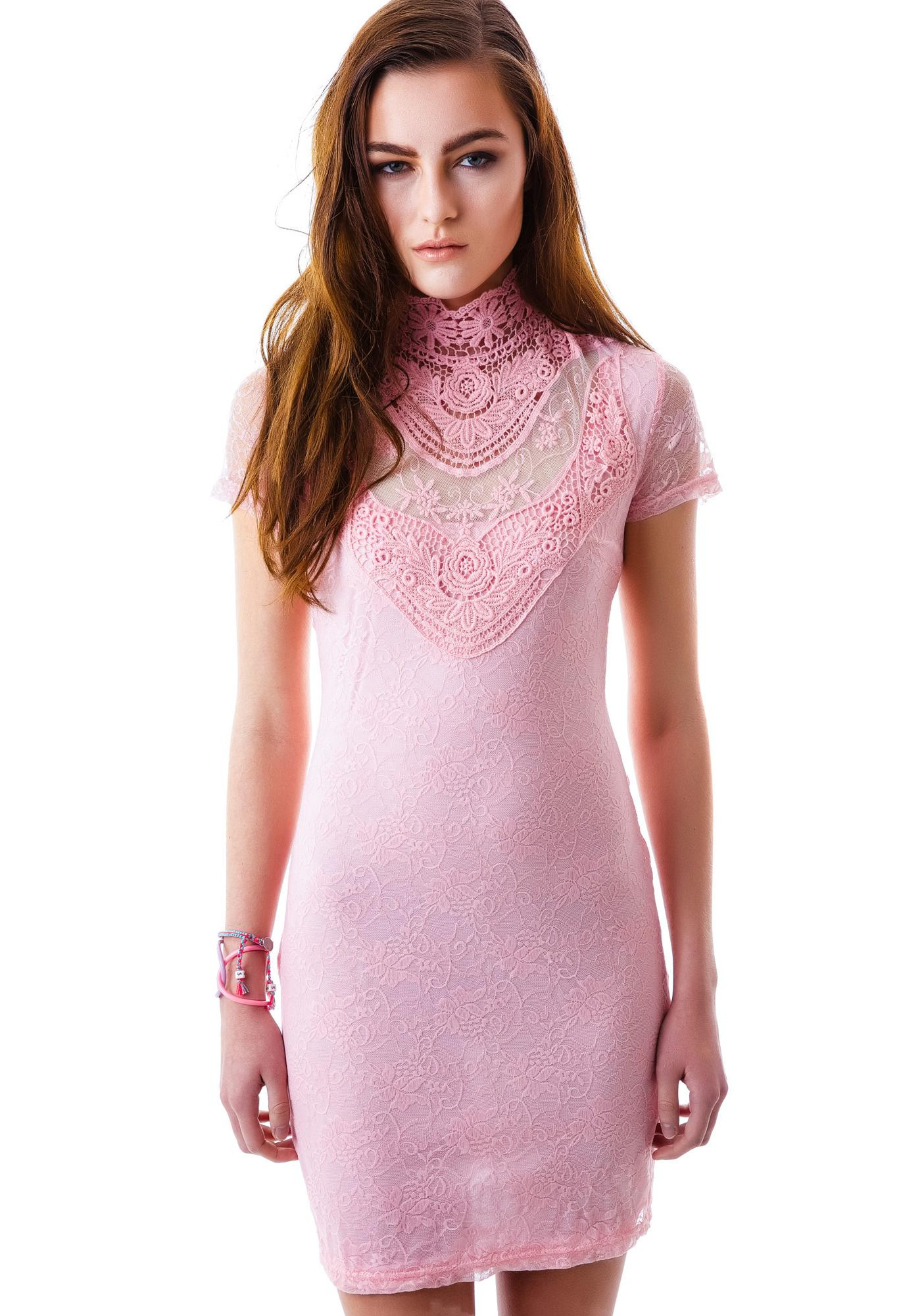 Pretty in Peony Lace Dress