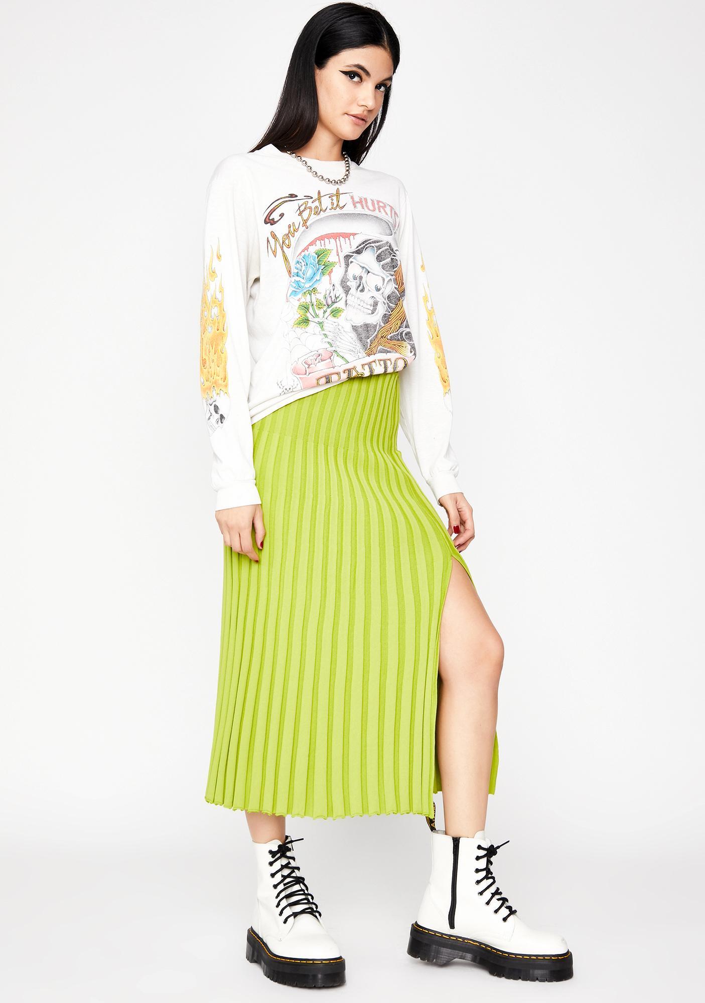 Nuclear Grunge Delusion Midi Skirt