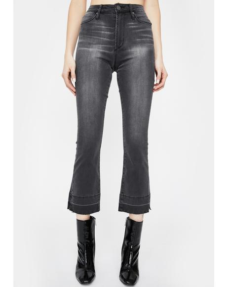Iron London Crop Flare Jeans