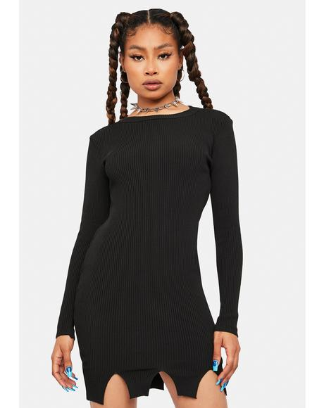 Servin' Attitude Ribbed Mini Dress