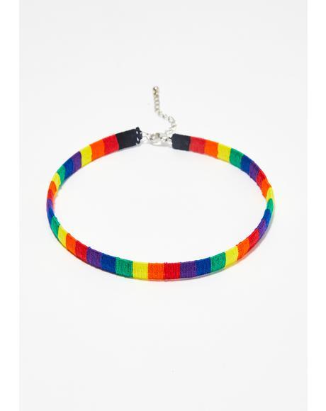 Pride Baby Rainbow Choker