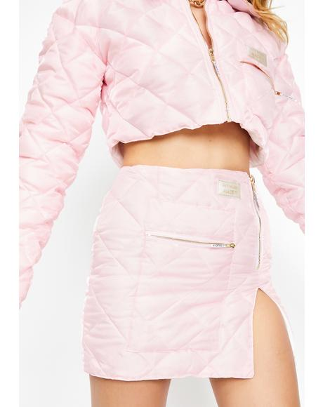 Quilted Organza Puffer Skirt