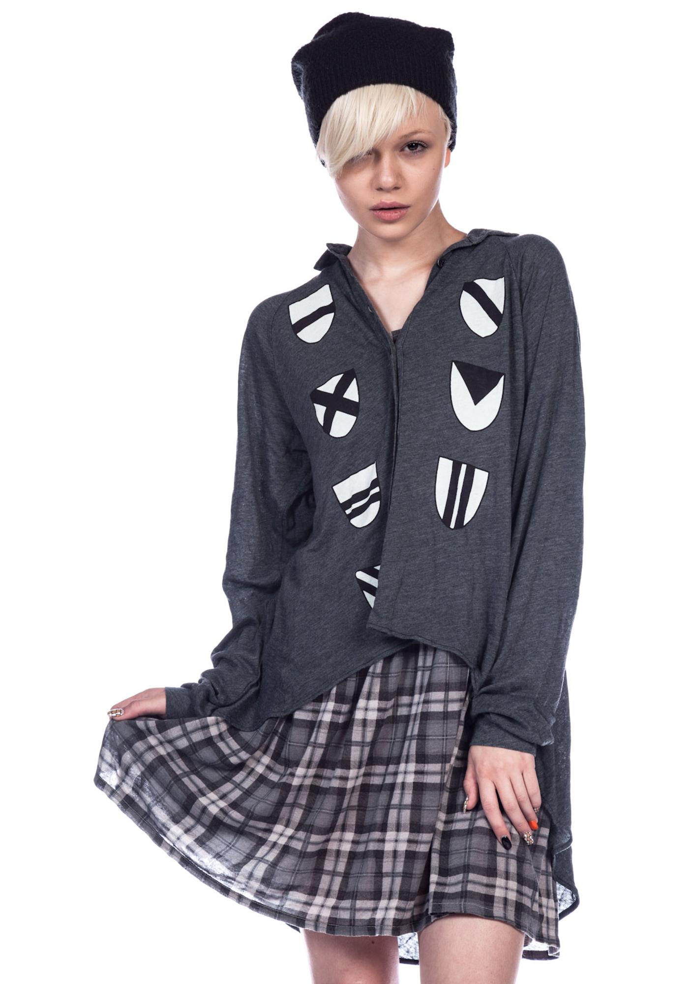 Wildfox Couture Heraldry Sunday Button Down Shirt