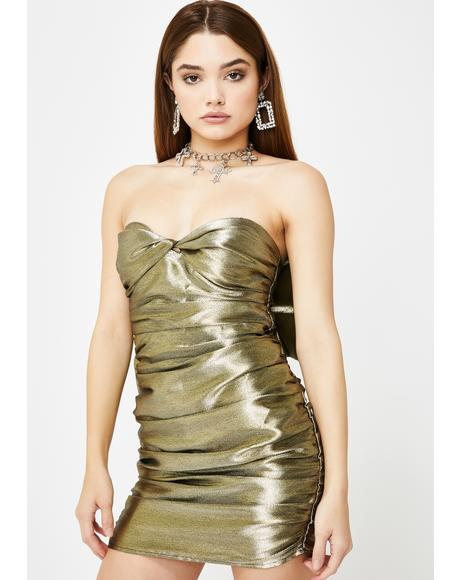 Gold Juliette Strapless Mini Dress