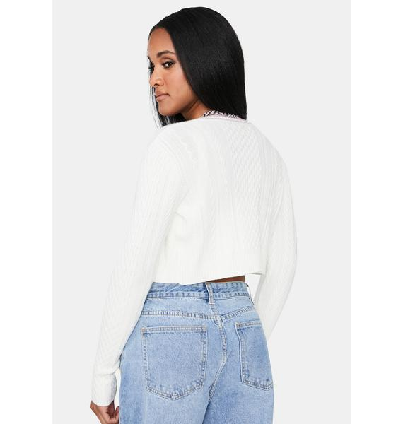 Ivory All My Life Cable Knit Cardigan Set